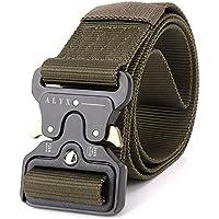 Ponixa Cinturones tácticos al aire libre 49 pulgadas para hombres (Verde)