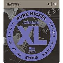 D'Addario EPN115 - Juego de cuerdas para guitarra eléctrica de níquel, 011' - 048'