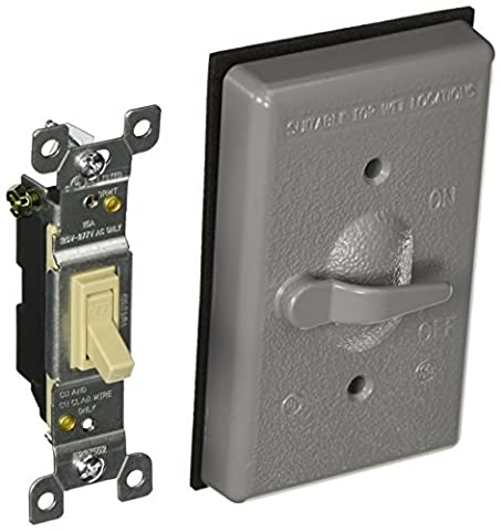 Hubbell-Bell 5121-0 Single Gang Weatherproof Switch Cover by Hubbell Bell