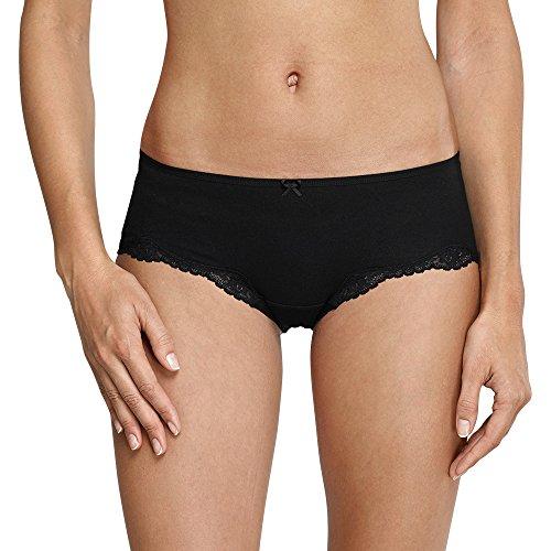 Schiesser Damen Bikinislip Bikini Hipster, (Schwarz 000), 40