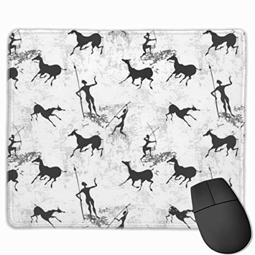 Mouse Pad Cave Painting Texture Non Slip Rubber With Stitched Edge Base Mousepad 25 X 30 CM -