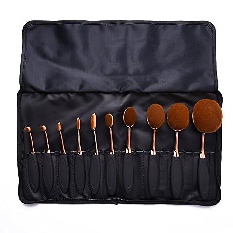 uarter Professional Make-up-Pinsel-Set oval Zahnbürste Kosmetik Werkzeug für Augen und Gesicht Cosmetics,