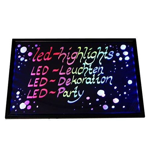 Werbetafel LED 60*40 cm beschreibbar mit Controller, Leuchttafel, Reklametafel, Schreibtafel, Kundenstopper