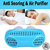 Anti Snore Devices, Snoring Aids, 2-in-1 Snore Stopper and Breathing Air Purifier, Nose Vents Nasal Dilator, Stop Snoring Solution for Comfortable Sleeping