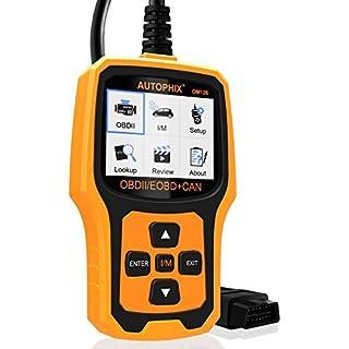 AUTOPHIX OBD2, Scanner, OM126,EOBD, OBDII, Auto-Diagnose-Tool, Fehlercode-Leser, Reset für Motormanagement Warnleuchte