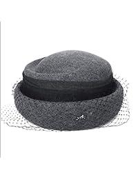 d1814989cdfce GHC Gorras y Sombreros Sombrero de otoño Invierno Nueva Gorra de Lana Mujer  Retro Pequeño Sombrero