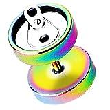Piersando® Ohrring Fake Ohr Plug Flesh Tunnel Piercing Ohrstecker Stecker Stab Runde Platte mit Dose Motiv Rainbow