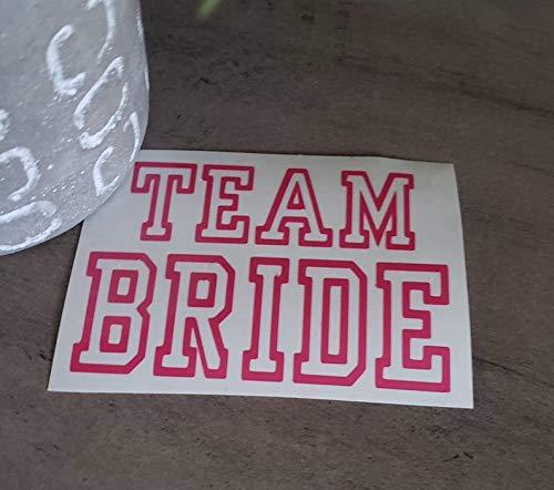 Celycasy Team Bride Decal Bride Decal Bachelorette Party Aufkleber Hochzeit Aufkleber Yeti Decal Flask Decal Mug Car Decal Vinyl Sticker