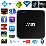 AKASO M8S - 4K Android TV BOX Inteligente , Amlogic S812 , Octa-core CPU, 2GB RAM + 8GB ROM , KODI (XMBC) 16.0 con Add-ons Pre-cargado , HDMI , Doble Wifi , Bluetooth 4.0 , Streaming Media Player
