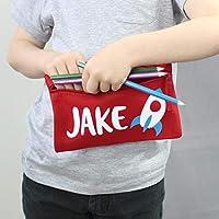 Personalised Rocket Pencil Case - Pencil Case - Kids Pencil Case - Personalised Pencil Case - Rocket Pencil Case - Red Bag - Pencil Pouch