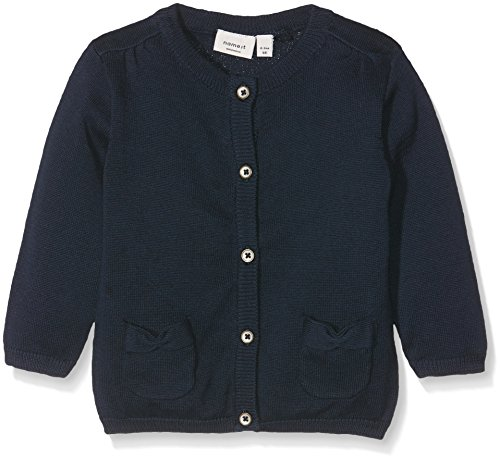 NAME IT Baby-Mädchen Strickjacke Nitdana LS Knit Card Mznb Ger, Blau (Dress Blues), 68