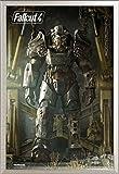 Fallout 4 Key Art Game Videospiel Poster Plakat Druck - Grösse 61x91,5 cm + Wechselrahmen der Marke Shinsuke® Maxi aus edlem Aluminium (ALU) Profil: 30mm silber
