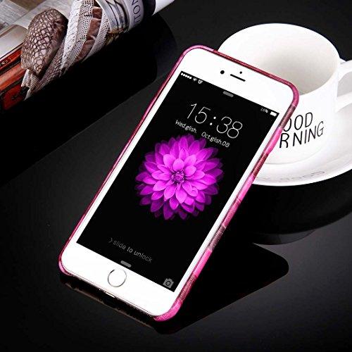 Phone case & Hülle Für iPhone 6 Plus / 6s Plus, Heuschrecke Paste Haut Muster Schutzmaßnahmen PU Leder Tasche ( Color : Yellow ) Magenta