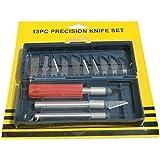 Yiyatoo Hobby Precision Carving Razor Tool Set Kit Plus Case X-Acto Crafts Scraps, 13 Piece