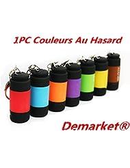 Demarkt Une Pièce LED USB Clé Lampe Rechargeable Torche Poche Portable porte-clé Rechargeable Etanche 25LM Couleurs Au Hasard 1PC