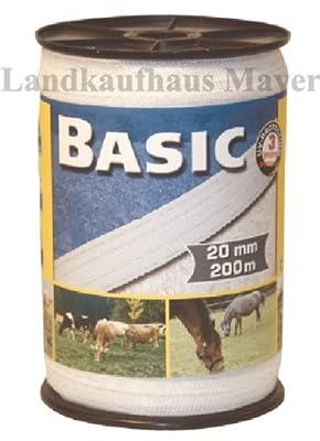 Weidezaunband Weiß 20mm Rolle 200m 4x0,16 Niroleiter von Landkaufhaus Mayer auf Du und dein Garten
