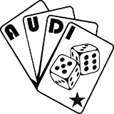1 x 2 Plott Aufkleber Audi Poker Karten Sticker Tuning Shocker Quattro OEM NEU