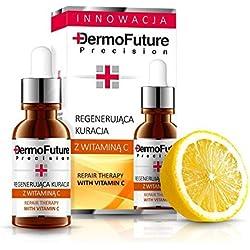DERMOFUTURE Antifalten Serum - 30% Vitamin C + Hyaluronsäure Pigmentierung 20ml