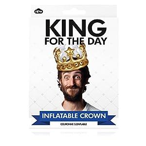 NPW W13634 ing for The Day Crown aufblasbarer Krone Foto Booth Selfie Prop-König für den Tag Kostüm, One Size