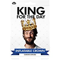 Inflatable Crown Antlers Hat Rings Photo Booth Selfie Prop - King For The Day Fancy Dress