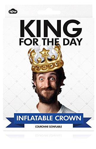 NPW W13634 ing for The Day Crown aufblasbarer Krone Foto Booth Selfie Prop-König für den Tag Kostüm, One Size