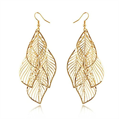 Frauen Ohrringe Quaste Bohemian Fashion Alloy Leaf Schmuck Täglich Casual Kostüm (Dangle Kostüm Ohrringe)
