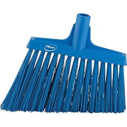 Vikan 29143 Heavy Duty Sweep Floor Broom Head, PET Bristle, Polypropylene Block, 11, Blue