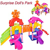 Janly Playground Toy Princess Doll Park House Game Big Slide Playset Gift Toy for LOL Surprise Doll Sale