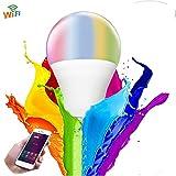 WANGLAI Smart Ampoule, E2710W WiFi Ampoule, à intensité Variable, Compatible avec Google Alexa Home Assistant