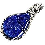 Lapis Lazuli, Lapislazzulo 925 Argento Sterling Ciondolo 1 3/4' immagine