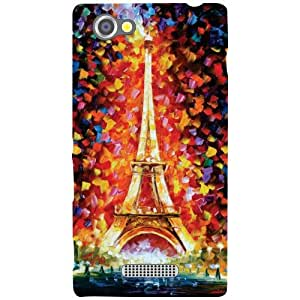 Printland Tall Tower Back Cover For Sony Xperia M