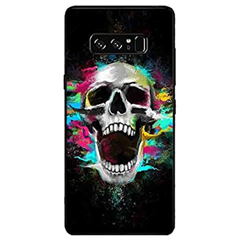 For Samsung Note 8 Stylish Emboss Case,Y56 Ultra Thin Soft TPU Case Cover For Samsung Galaxy Note 8 With Skull Cartoon Pattern (Pattern A)