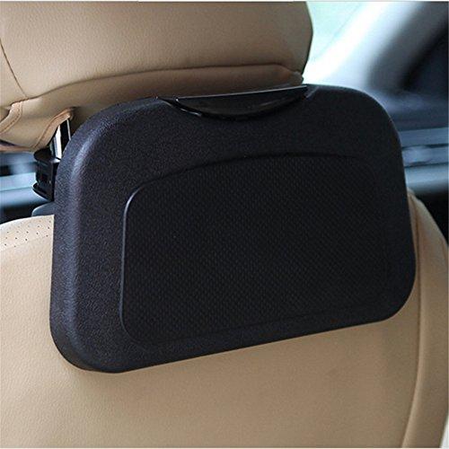 Dbtxwd Auto Rücksitz Organizer Tisch, Folding Auto Rücksitz Tablett Tisch Trinken Essen Rack Cup Holder Tray Stehpult, 2 Stücke,Black