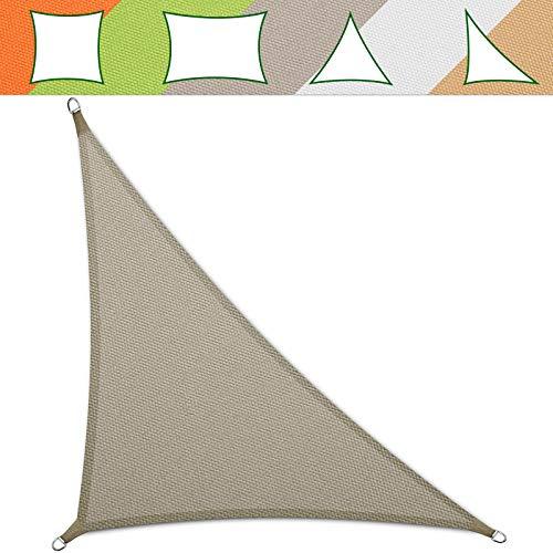 casa pura® Sonnensegel wasserabweisend imprägniert | Testnote 1.4 | Dreieck | UV Schutz Größen (grau, 5 x 5 x 7 m)