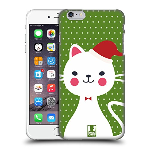Head Case Designs Babbo Natale Bianco Gatti Aztechi Cover Retro Rigida per Apple iPhone 7 / iPhone 8 Babbo Natale Bianco