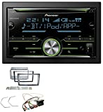 caraudio24 Pioneer FH-X730BT MP3 2DIN Bluetooth Aux CD USB Autoradio für Opel Corsa D Stealth Schwarz
