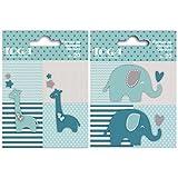40 formas cortadas elefantes azules y jirafas grises