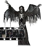 CTC Animatronic Halloween Hammer Todesengel geflügelter Sensenmann lebensgroß mit Flügeln Sound Bewegung USA Profi Deko Show Party Fun
