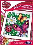 Sentosphere 02026 - Juego de Manualidades con Flores y Mariposas con Brillantes