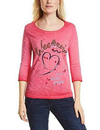 Cecil Damen Langarmshirt 311784, Rot (Salsa Red 31198), Small (Salsa-t-shirt)