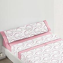 Burrito Blanco - Juego de sábanas 443 para cama 105x190/200 cm, color coral