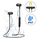 Mpow Magnetic Bluetooth Earphones Wireless, IPX7 Waterproof Running Headphones [Up to 8Hrs] Durable