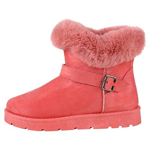 Napoli-fashion Donna Scarpe Invernali Stivaletti Slip-on Boots In Pelliccia Sintetica Jennika Rosa