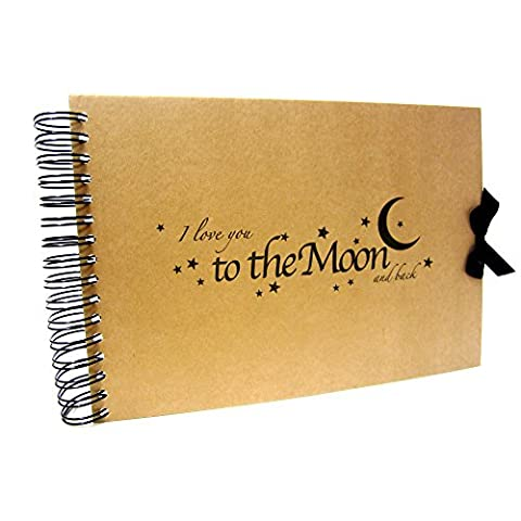 A5 A4 Love you to the Moon and Back Scrapbook,
