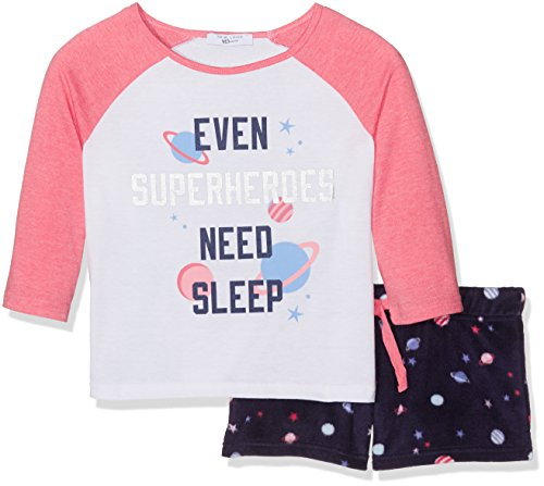New-Look-915-Girls-Superheroes-Fleece-Shirt-Pyjama-Tops