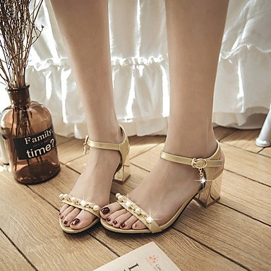 RTRY Sandali Primavera Estate Autunno Slingback Pu Office & Carriera Party & Abito Da Sera Chunky Heel Perla US9 / EU40 / UK7 / CN41
