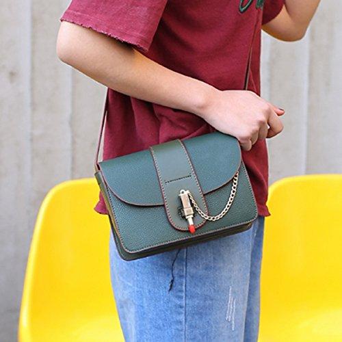 Weibliche mode tasche Schulter diagonal Kreuz das kleine paket Grün