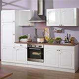 Pharao24 Küchenblock 270 Weiss HG mit Elektro Whites