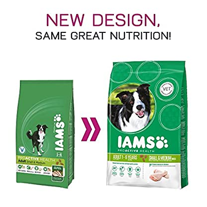 Iams ProActive Health Complete and Balanced Dog Food with Chicken for Small and Medium Breeds, 7.5 kg 3