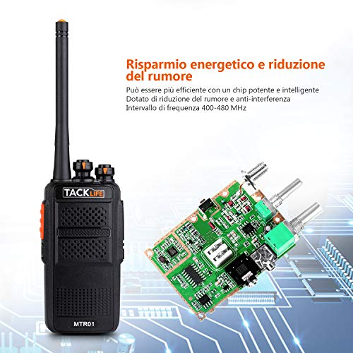 Zoom IMG-2 walkie talkie professionali tacklife mtr01
